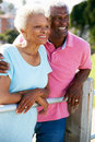 Senior Couple Walking In Park Together Stock Photography