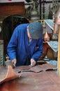 A senior craftsman Royalty Free Stock Image