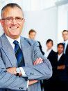Senior executive business man Stock Images