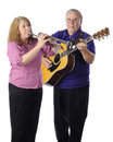 Senior Family Musicians Royalty Free Stock Photo
