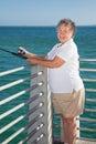 Senior Fishing Fun Royalty Free Stock Photo