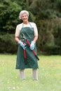 Senior gardener Stock Photography