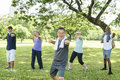 Senior Group Friends Exercise Relax Concept Royalty Free Stock Photo