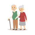 Senior happy couple cartoon relationship characters lifestyle vector illustration relaxed friends.