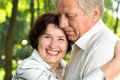 Senior happy smiling couple Stock Photography