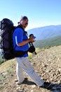 Senior hiker Royalty Free Stock Photo