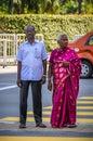 Senior Indian couple in Kuala Lumpur, Malaysia