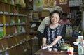 Senior japanese woman smiling Royalty Free Stock Photo