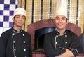 Senior and junior chef Royalty Free Stock Photo