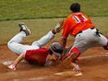 Senior league baseball world series maine slide Royalty Free Stock Photos