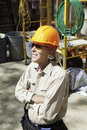Senior male construction worker Royalty Free Stock Photo
