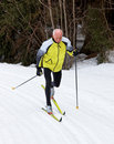 Senior Male Cross Country Skiing Royalty Free Stock Photography