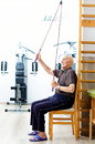 Senior man active in a gym Royalty Free Stock Images