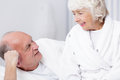 Senior man and beloved wife picture of happy men his Royalty Free Stock Photography