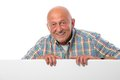 Senior man with a blank board Royalty Free Stock Photo