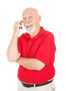 Senior Man - On Cellphone Stock Image