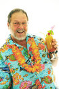 Senior man with cocktails Royalty Free Stock Photo