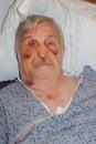 image photo : Senior man hospital selfie
