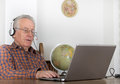 Senior man with laptop Royalty Free Stock Photo