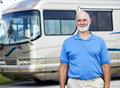 Senior Man with Motor Home Stock Photos