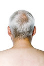 Senior man portrait rear view Royalty Free Stock Photo