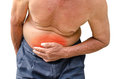Senior man suffering from stomach ache because he has diarrhea
