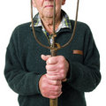 Senior man with tool Royalty Free Stock Photo