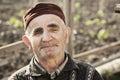 Senior man wearing cap Royalty Free Stock Photo