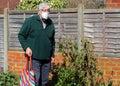 Senior man wearing face mask. Corona virus. Royalty Free Stock Photo