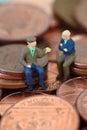 Senior men coins C Royalty Free Stock Photo