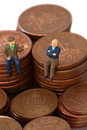 Senior men coins A Royalty Free Stock Photo