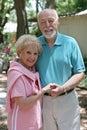 Senior parę na zewnątrz Obraz Royalty Free
