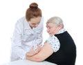 Senior Patient Arm Insulin Med...
