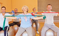 Senior people doing back training Royalty Free Stock Image