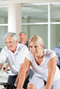 Senior people in gym Stock Image