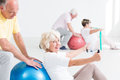 Senior people working out Royalty Free Stock Photo