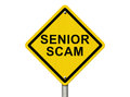 Senior Scam Warning Sign Royalty Free Stock Photo