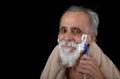 Senior shaving nice image of a man Royalty Free Stock Photography