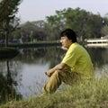 Senior south asian man park Stock Photography