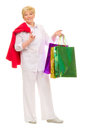 Senior woman with bags Royalty Free Stock Image