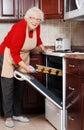 Senior woman baking cookies Royalty Free Stock Photo