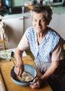 Senior woman baking Royalty Free Stock Photo