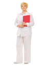 Senior woman with folder Stock Image