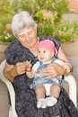 Senior woman with granddaughter Royalty Free Stock Image