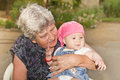 Senior woman with granddaughter Royalty Free Stock Photo