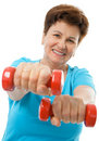 Senior woman in gym Royalty Free Stock Photo