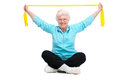 Senior woman at gym Royalty Free Stock Photo