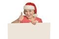 Senior woman  holding white blank Royalty Free Stock Photo