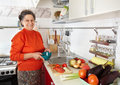 Senior woman in the kitchen Royalty Free Stock Image