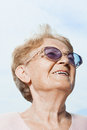 Senior woman looking up Royalty Free Stock Photo